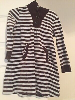 EUC GIRL GYMBOREE GIRLS BEST FRIEND BLUE Brown VELOUR Striped DRESS OUTFIT 4 (Best Holiday Party Outfits)