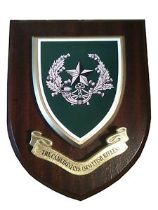 Cameronians Scottish Rifles Military Wall Plaque UK Made for MOD
