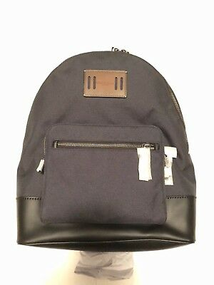 NWT Men's Coach F27609 Cordura West Nylon/Leather Backpack Color Racing Green
