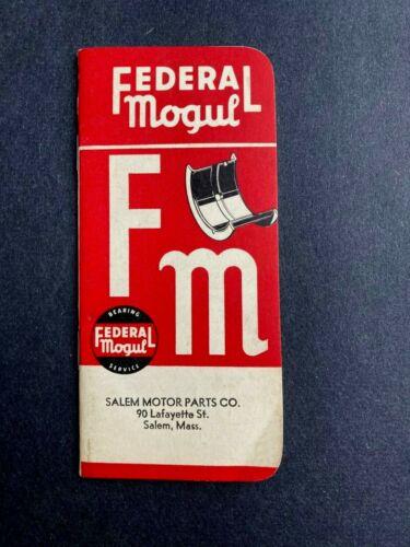 Vintage advertising memo booklet 1962 Federal Mogul Bearing Service auto repair