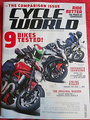 CYCLE WORLD MAGAZINE JULY 2016 BIKES TESTED DUCATI MONSTER YAMAHA HUSOVARNA 701 for sale  Shipping to India