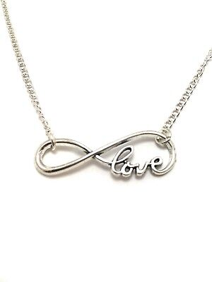 ( Infinity Love Charm Anklet Sterling Silver Chain Link Endless Love )