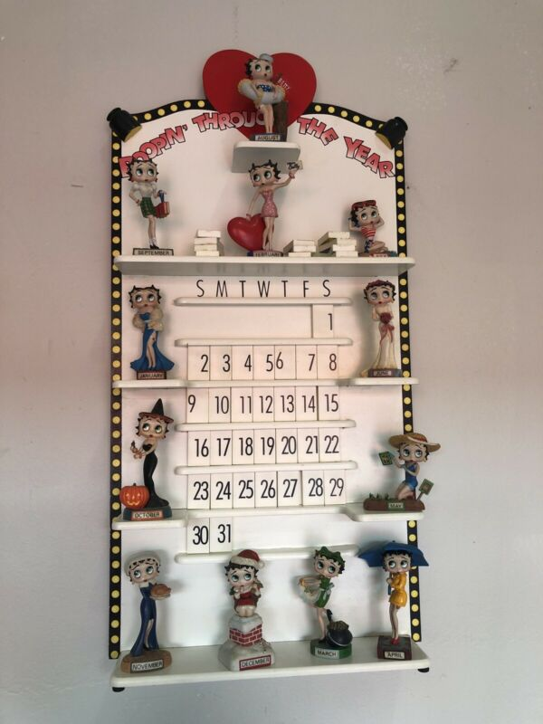"Vintage Betty Boop ""Boppin Through The Year"" Perpetual Calendar By Danbury Mint"