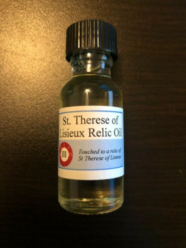 Saint Therese of Lisieux Holy Relic Oil (Devotional Oil Touched to Her Relics)