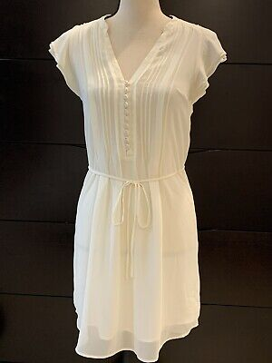 H&M Womens Dress Sheer See Through Lined Cap Sleeve Knee Length Size 4 - S