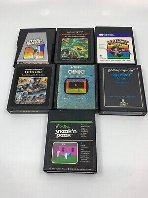7 Atari 2600 Video Game Cartridge lot Empire Strikes Back, Oink!, Sneak N Peek