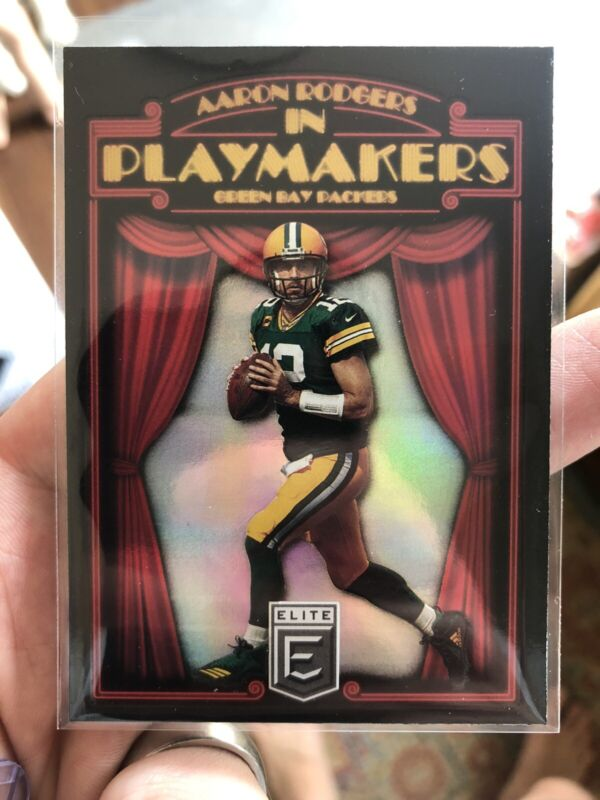 2021 Donruss Elite Playmakers Aaron Rodgers Case Hit SSP Packers Rare