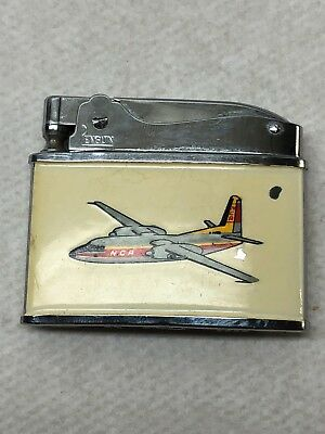 Vintage 1960S Northern Consolidated Airlines Flat Advertising Penguin Lighter