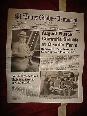 Bonnie and Clyde and August Busch Newspaper chronicle