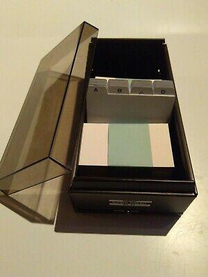 Index Business Cards File Box Metal Box Vintage Divider Addresses Impega No.g5
