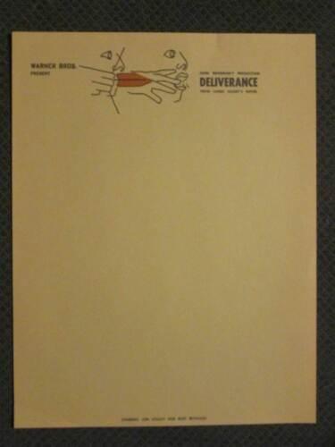 Deliverance   -  Original 1972   Movie Studio Letterhead - Voight- Reynolds