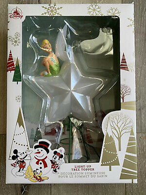 Disney Park Tinkerbell Light-Up Star Christmas Tree Topper Ornament Rare VHTF