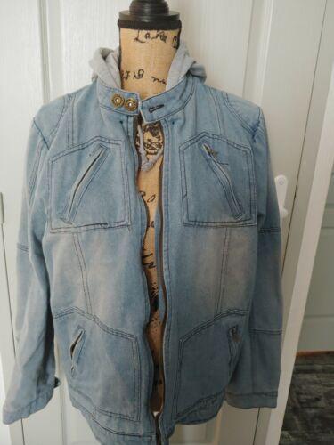 Veste en jean avec capuche homme