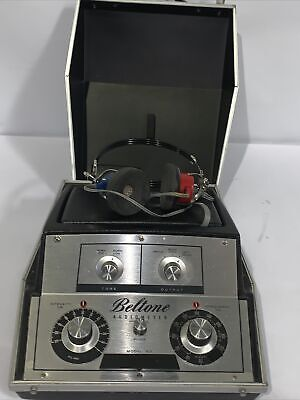 Beltone Model 9d Audiometer Hearing Tester W Headphones