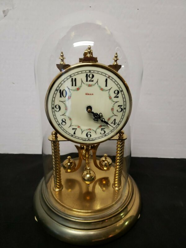 VINTAGE ANNIVERSARY CLOCK HENRY COEHLER CO. HECO MADE IN GERMANY AS PICTURED