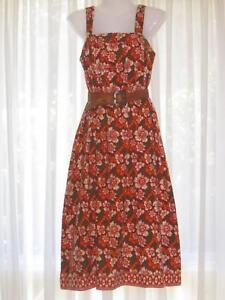 98d263ae1a5 Dee Emma Vintage 70s Cotton Batik Summer Holiday Dress Size 10 ...