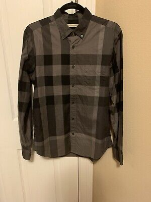 Mens Authentic Burberry Brit Button Down Shirt Size Medium