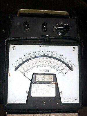 Vintage Westinghouse A-c Amperes Meter Type Pa-151 W Case