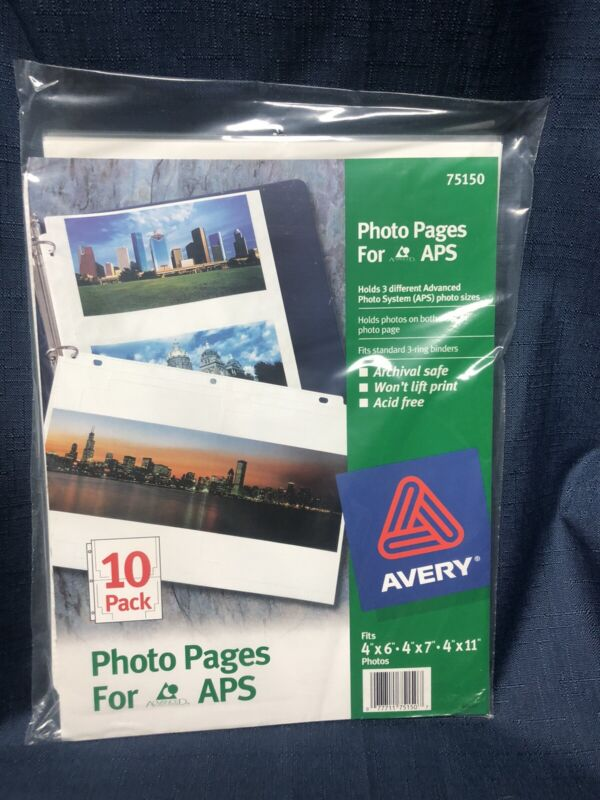 Avery Photo Pages for APS Advanced System 5 Packs (50 Pages Total)