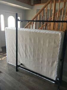 Double box spring and bed frame