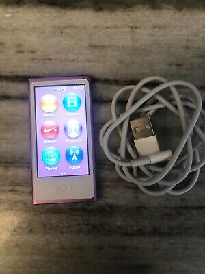 Apple iPod Nano 7th Generation 16GB MP3 Player - Purple gently used. New Battery
