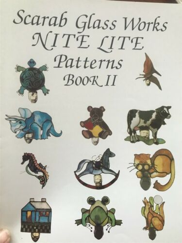 Stained Glass Nite Lite Patterns Book II by Scarab Glass Works
