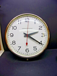 1950s Large GE Electric Wall Clock Glass Bubble Face