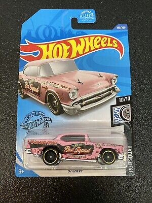 Hot Wheels 2020 '57 Chevy Bel Air Pink Rod Squad New Rare VHTF Case Car In Hand
