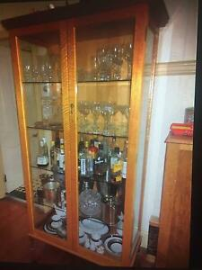 Antique maple dining suite and display cabinet Auchenflower Brisbane North West Preview