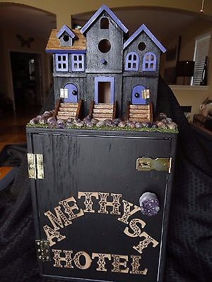 Large Decorated Geocache Travel Bug Hotel Custom Made to Order or pre made