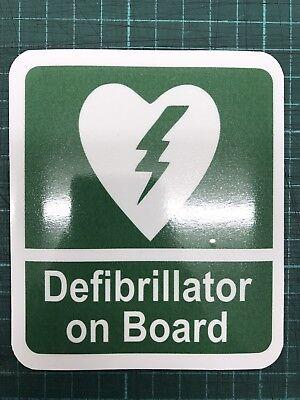 Sticker Defib On Board Car Defibrillator AED ideal Office Work Station