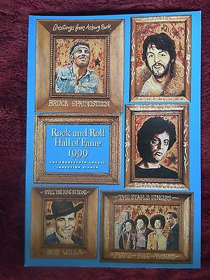 Rock and Roll Hall of Fame Program Paul McCartney Bruce Springsteen Billy Joel
