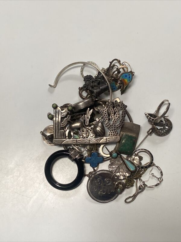 Sterling Silver Scrap Lot 140 Grams