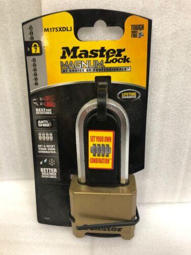 """Master Lock Magnum Indoor Outdoor 2-1/2"""" Shackle Combination Padlock SET & RESET"""