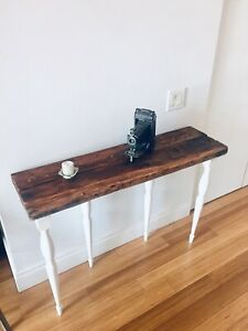 HALL WAY CONSOLE TABLE VINTAGE RECLAIMED BARN BEAM WOOD