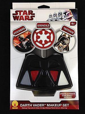 Star Wars Darth Vader Costume Makeup Face Paint Set w/ Stickers Tattoos Stencils - Darth Vader Makeup