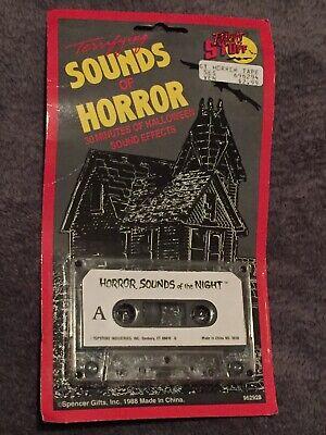 Terrifying Halloween Sounds (Vintage HORROR SOUNDS OF THE NIGHT Cassette Tape Halloween Horror Terrifying)