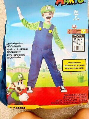 Luigi Classic Nintendo Super Mario Brothers Padded Dress Halloween kid Costume M