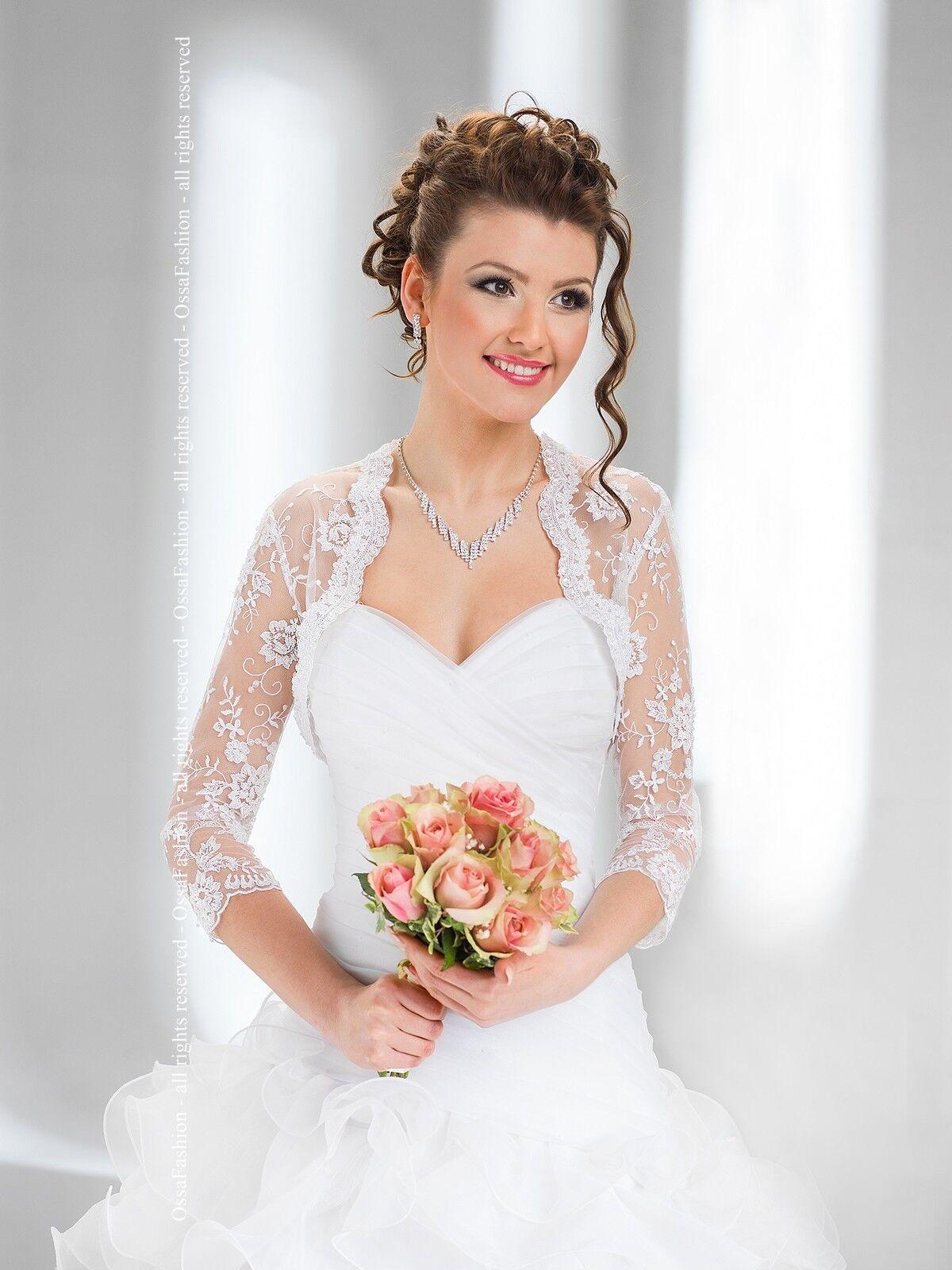 New Women Wedding New Top Lace Bolero Shrug Bridal Jacket Sizes ...