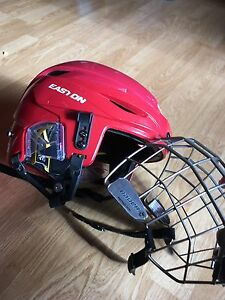Easton E600 helmet with Bauer cage