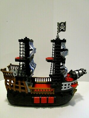 Fisher Price Imaginext Pirate Ship with Blue & White Sails 2006