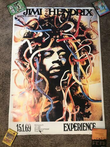 Jimi Hendrix Experience Wired Hair Medusa Stuttgart Germany Concert Tour Poster