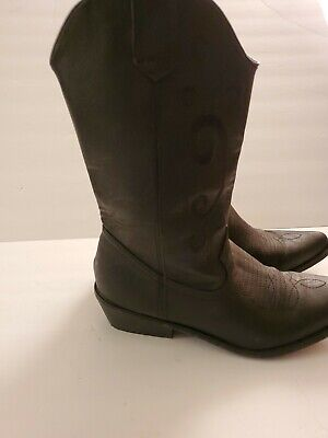 Womens Cato Black Cowboy Boots Size 9