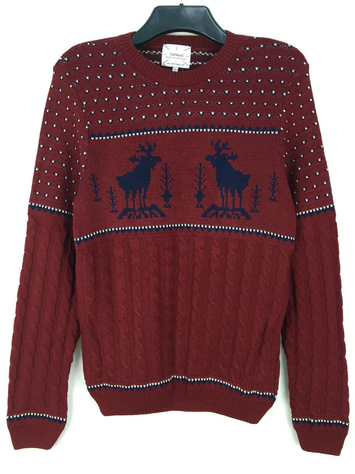 Details zu Topman Herren Weihnachten Pullover Sweatshirt Größe XXS S XL