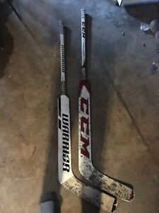 Two goalie sticks (almost new)