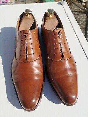 Mens JOHN FLUEVOG Twin Turbo, 100% Leather, Tan Lace-up Loafer Shoes UK 10