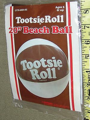 "Tootsie Roll 20"" Giant beach Ball Beach Ball NIP 2008 rand International"