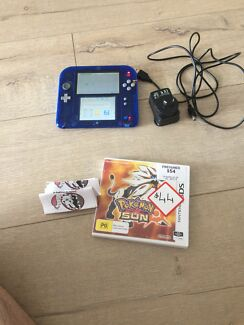 Nintendo 2ds Sapphire blue limited edition