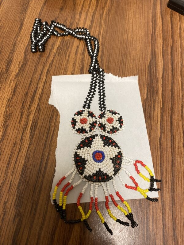 Vintage Native American Style Beaded Necklace