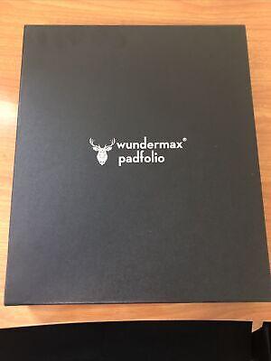 Wundermax Portfolio Binder Zippered Padfolio Tablet Pocket Vegan Leather